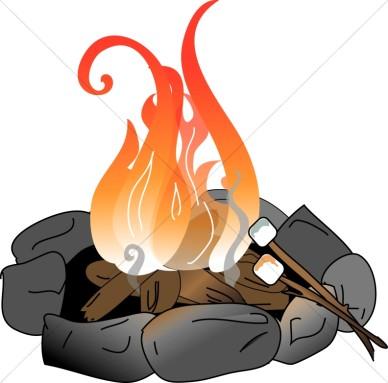 388x383 Image of campfire clip art 4 cartoon clipart free