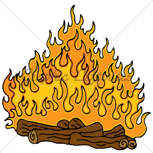 500x500 Best Cartoon Campfire