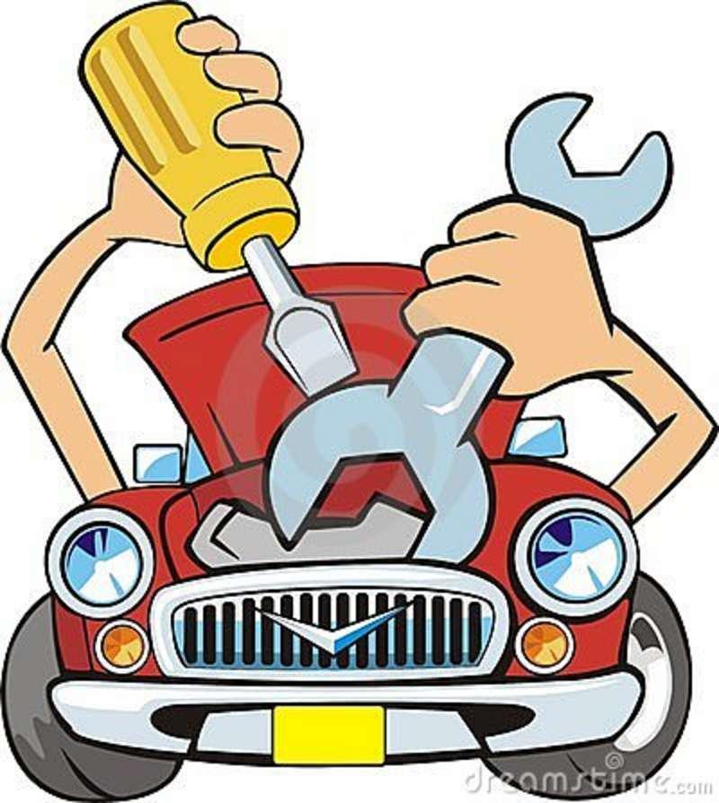 800x894 Auto Mechanic Shop Clipart
