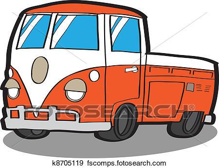 450x345 Clip Art Of Minivan Cartoon Car K8705119