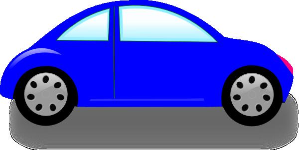 600x301 Blue Car Clipart Cute