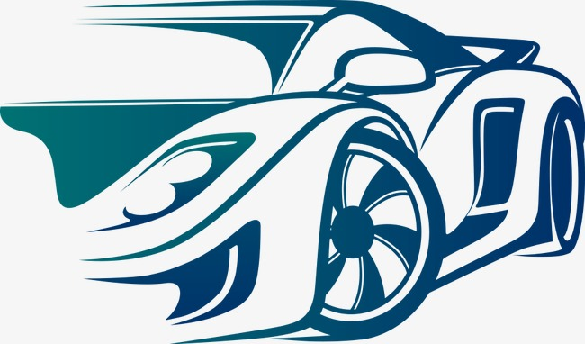 650x382 Blue Vector Car, Sports Car, Cartoon Car, Vector Car Png