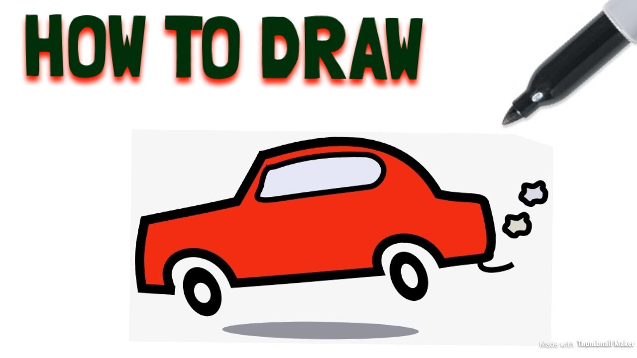 1280x720 How To Draw A Cartoon Car Drawing Tutorial