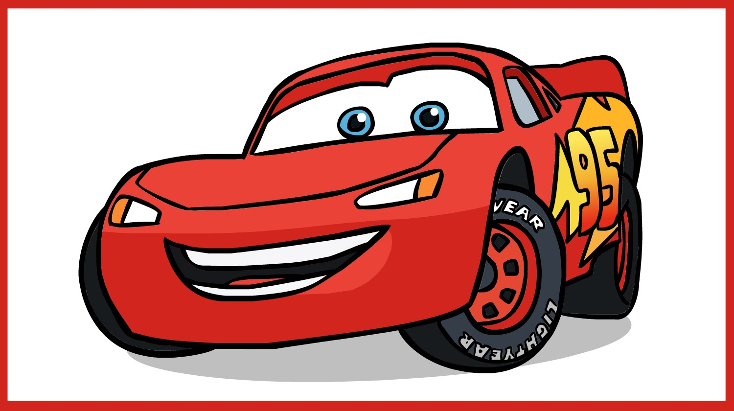 1500x840 How To Draw Lightning Mcqueen. Cars Disney Pixar.