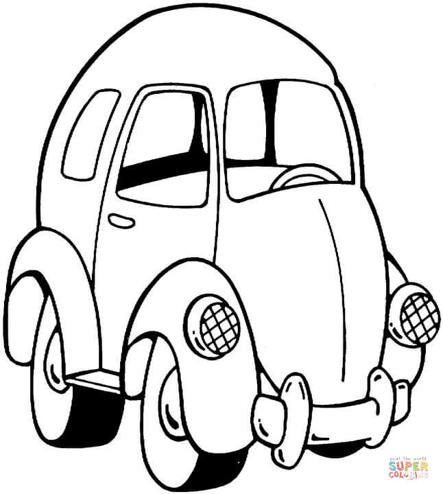 646x720 Little Toy Car Coloring Page Free Printable Coloring Pages