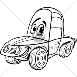 325x325 Old Automobile And Sports Car Cartoon Gl Stock Images