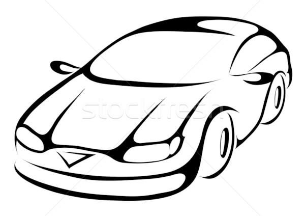600x424 Stylized Cartoon Car Stock Photo Cihan Demirok (Cidepix