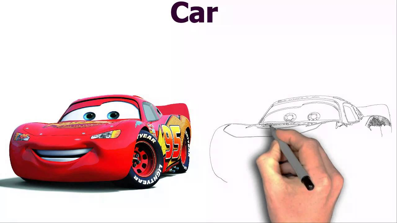 1280x720 Disney Cars Lightning Mcqueen Cartoon Image Wallpaper Drawing