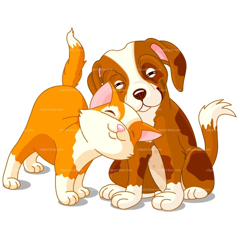 Cartoon Cat And Dog Clipart
