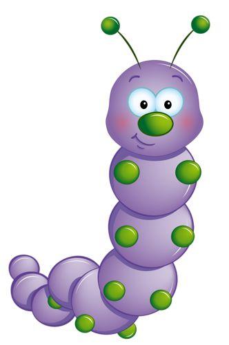 Cartoon Caterpillars Clipart