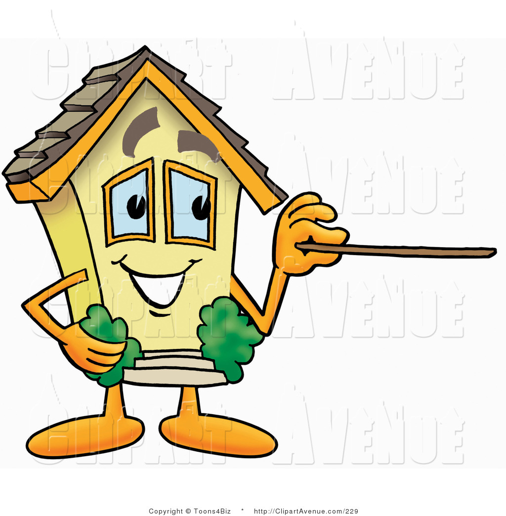 1024x1044 Avenue Clipart of a Yellow House Mascot Cartoon Character Holding
