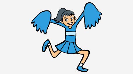 Cartoon Cheerleading Images