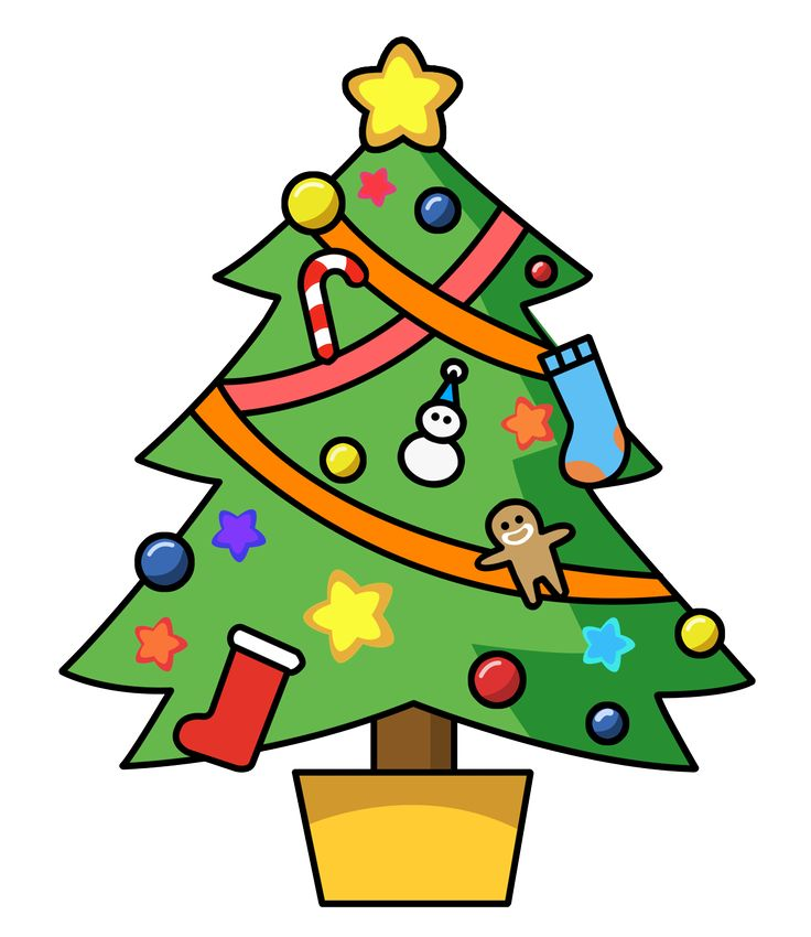 Cartoon Christmas Tree Pictures
