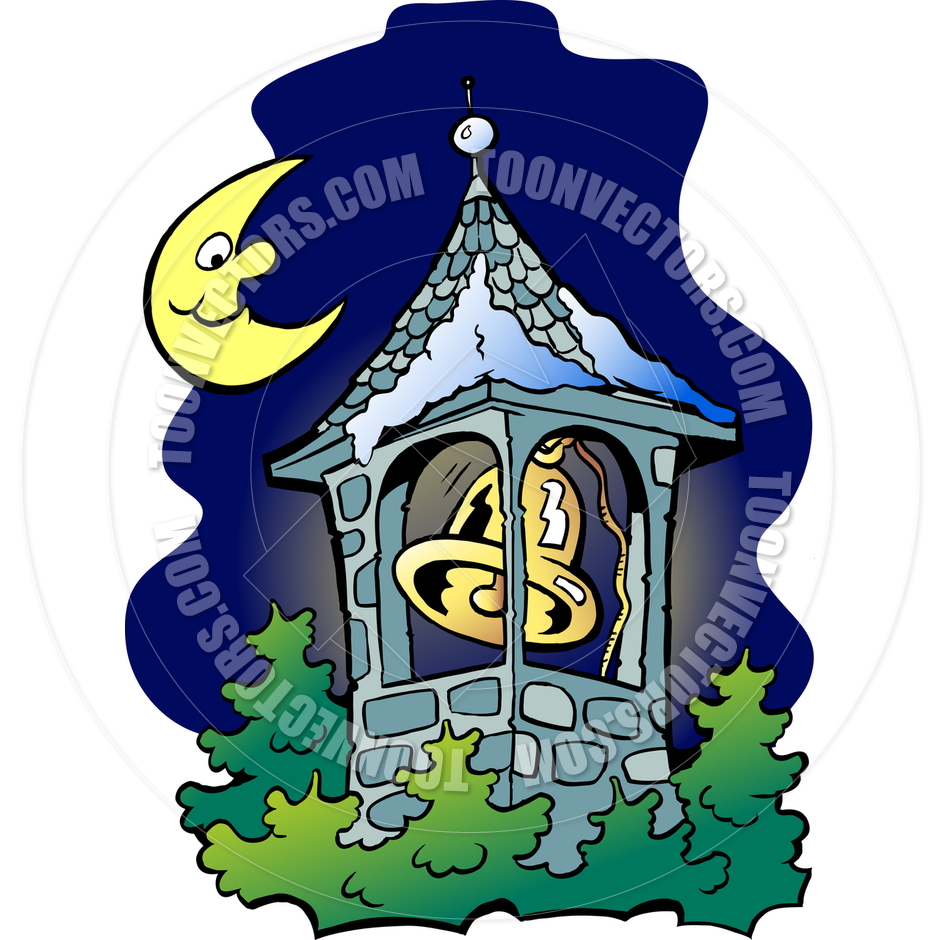 940x940 Cartoon Church Bell Tower By Poul Carlsen Toon Vectors Eps
