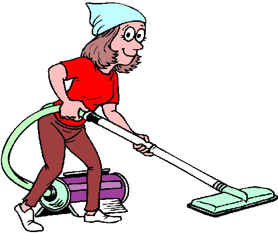 570x479 Cartoon Cleaning Lady Clipart