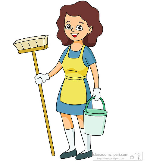 488x550 Cleaning Lady Clipart