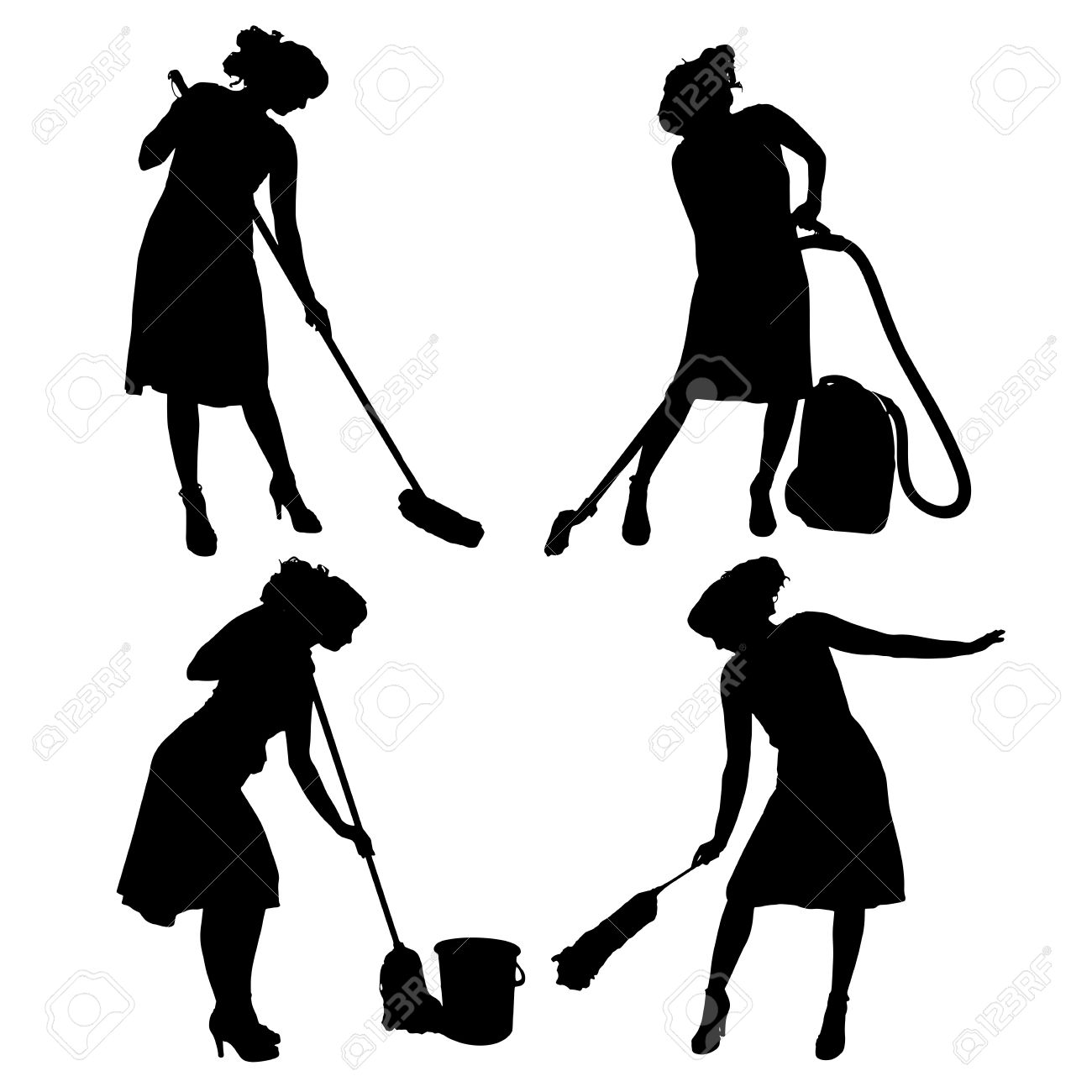1300x1300 Lady Cleaning Clipart, Explore Pictures