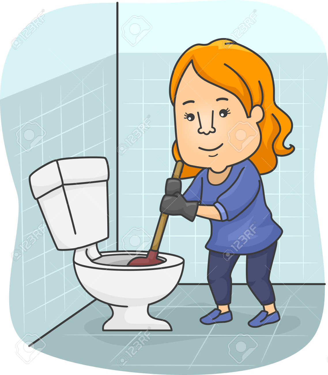 1138x1300 Woman Clipart Cleaning Bathroom