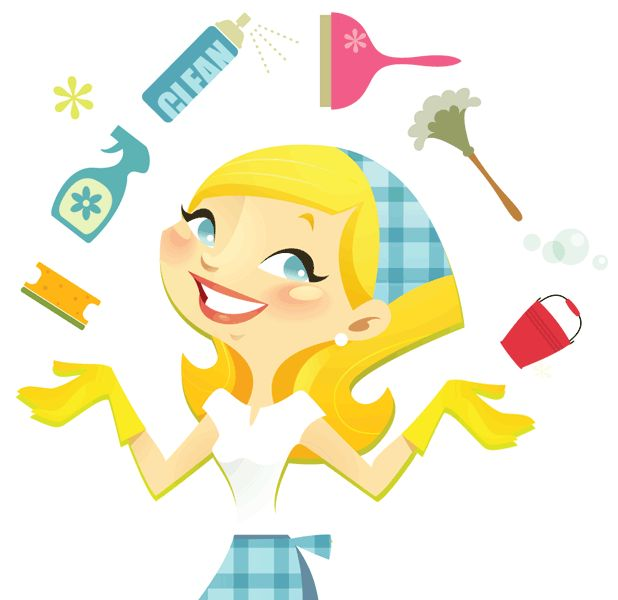 618x600 Cleaning Lady Clipart
