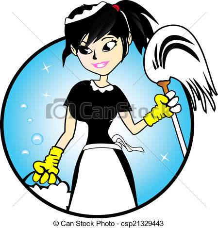 449x470 Cute Cleaning Lady Clipart
