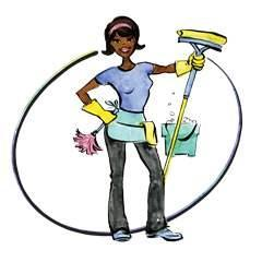 240x240 Cartoon Cleaning Lady Clipart