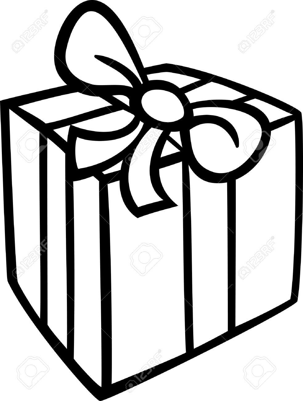 983x1300 Black And White Cartoon Illustration Of Christmas Or Birthday