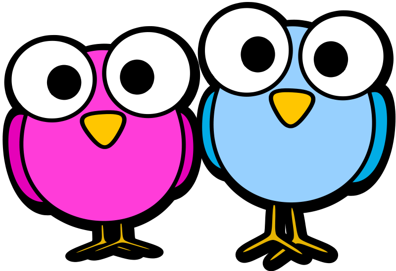 800x549 Free Two Cartoon Birds Clip Art
