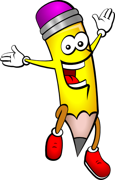 378x591 Pencil Person Cartoon Clip Art