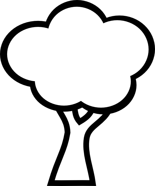498x596 Cartoon Tree Black And White Clipart