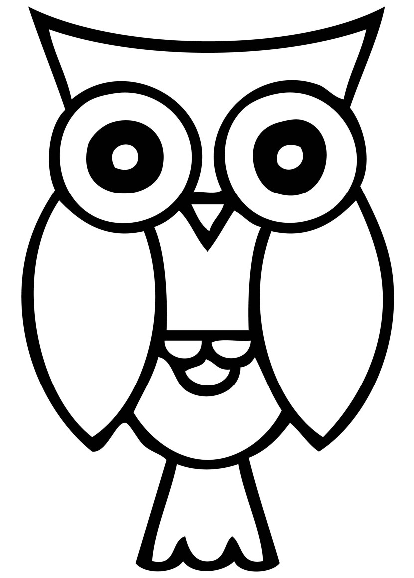 830x1159 Owl Clipart Black And White