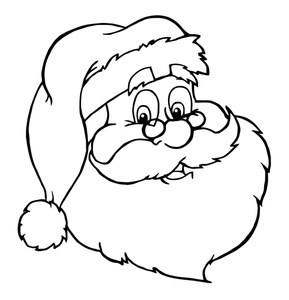 289x300 Santa Cartoon Clipart Image