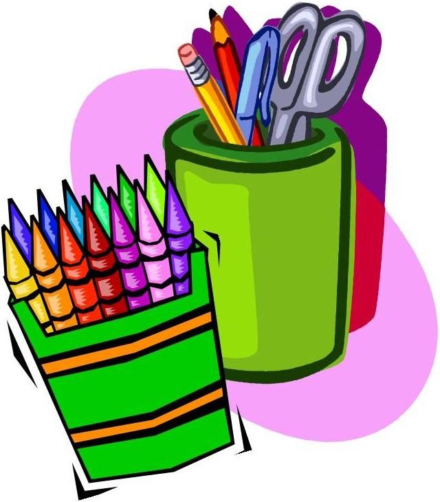 640x730 Cartoon School Supplies Clipart