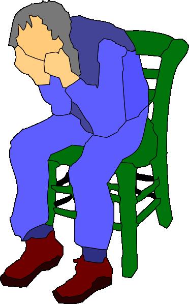 372x598 Man Sitting On A Chair Clip Art