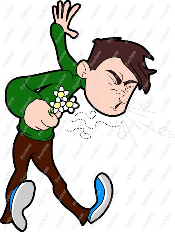 603x800 Man With Allergies Sneezing Character Clip Art