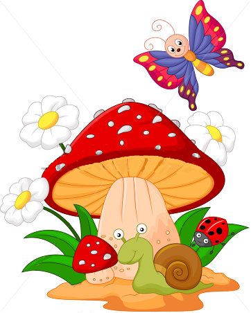 362x452 Cute Cartoon Mushroom Pictures Toadstool Clip Art Images