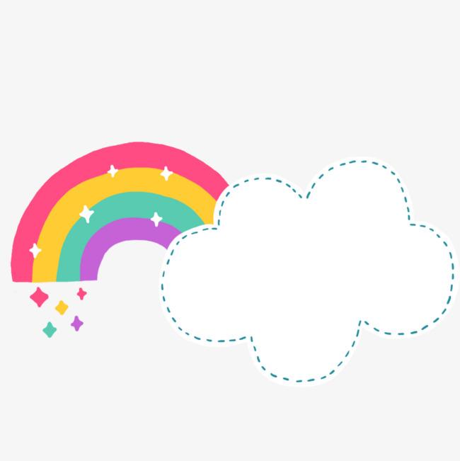650x651 Cartoon Cute Clouds Rainbow, Cartoon Cute Clouds Rainbow Free