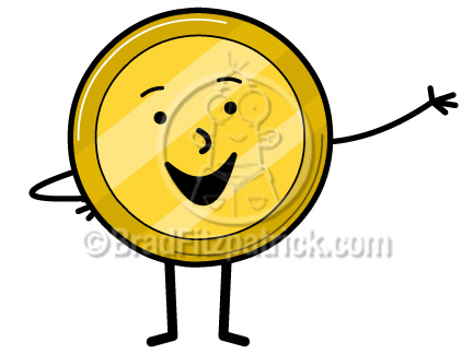 432x324 Cartoon Coin Clip Art Coin Clipart Graphics Vector Coin Icon
