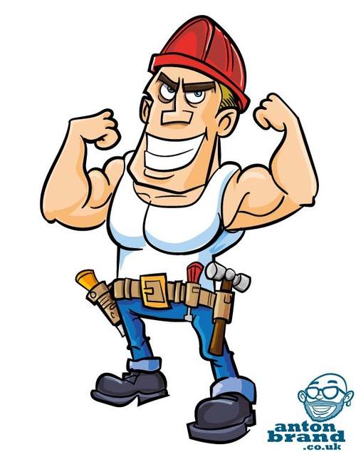500x634 Cartoon Construction Worker Profession
