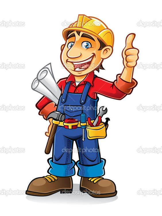 564x752 Construction Worker Clipart