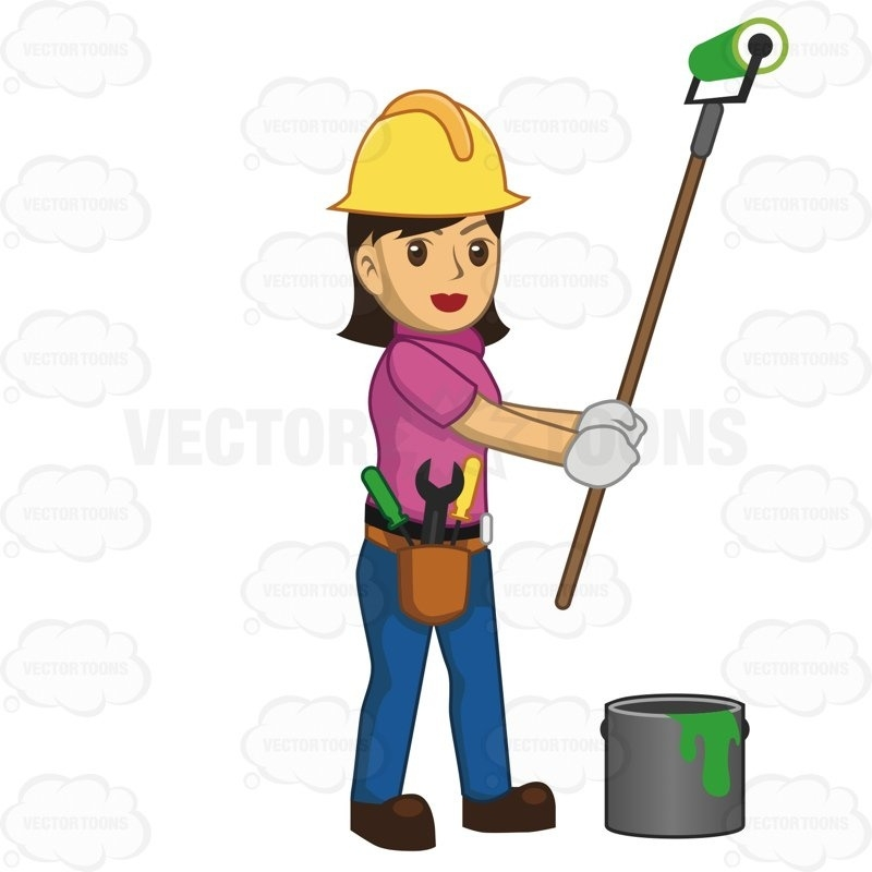 800x800 Female Construction Worker Clipart Letters Example