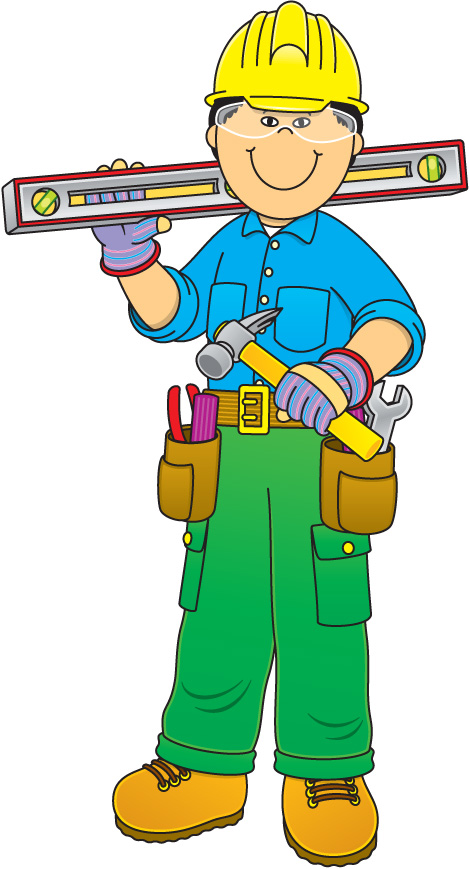 469x869 Free Construction Worker Clipart Image
