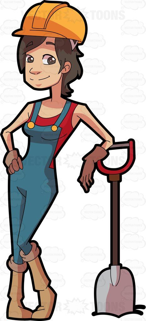465x1024 Free Construction Worker Clipart Image