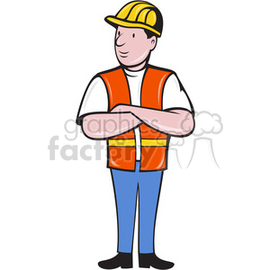 300x300 Royalty Free Construction Worker With Folded Arms 388367 Vector