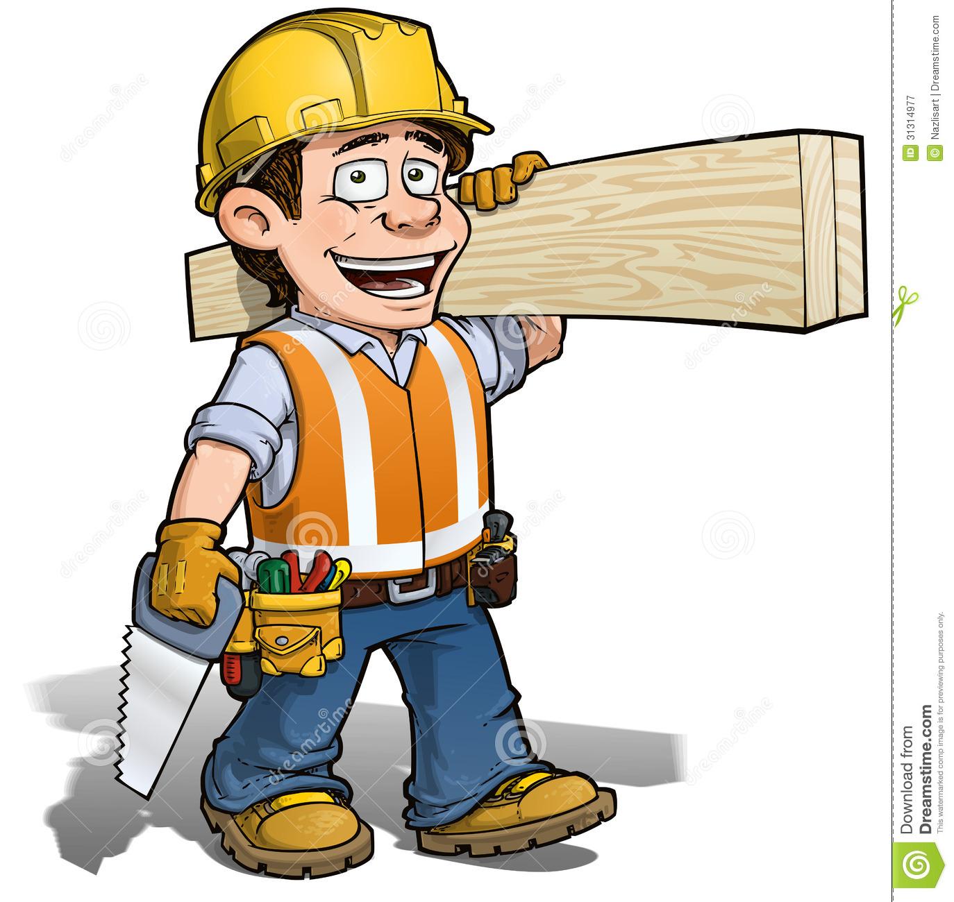 1374x1300 Cartoon Construction Worker Clipart