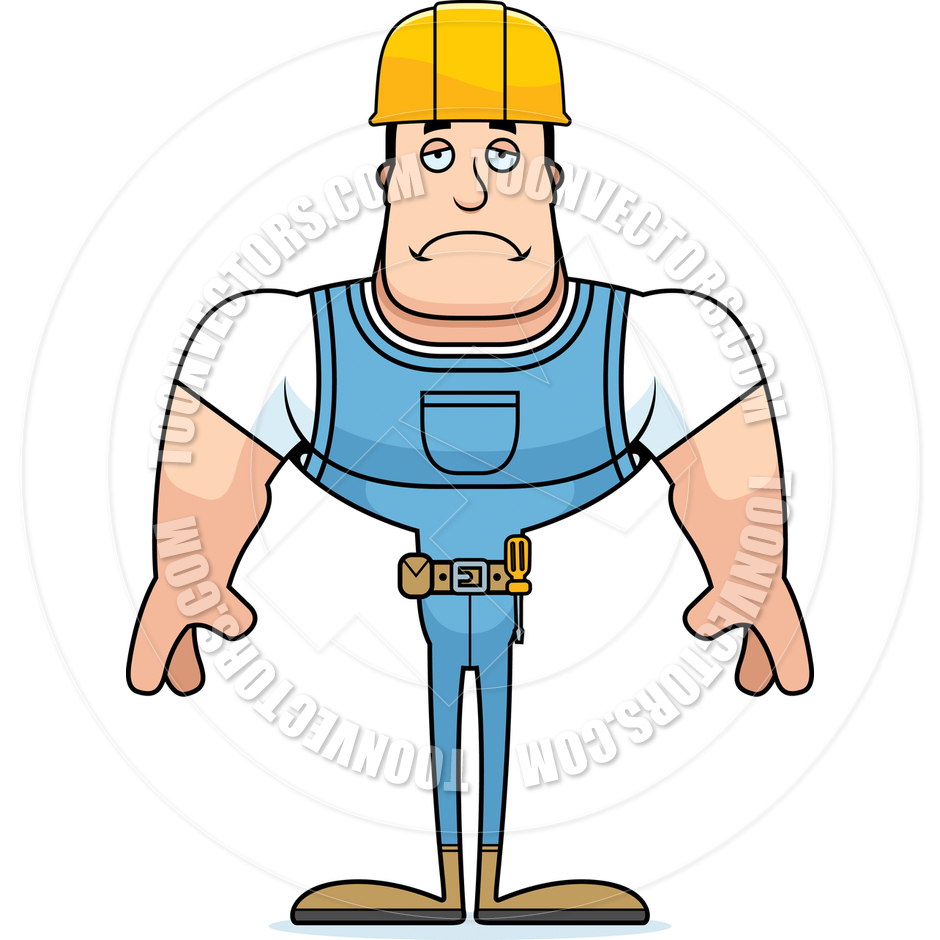 940x940 Cartoon Construction Worker Sad By Cory Thoman Toon Vectors Eps