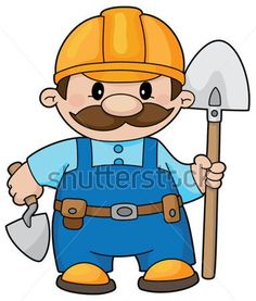 236x277 Cartoon Construction Workers Working Cartoon Construction Worker