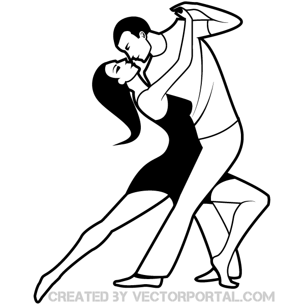 600x600 Cartoon Dancing Couple Clipart