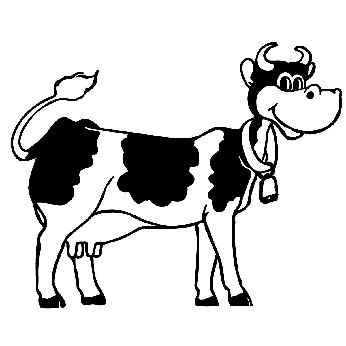 1200x1200 Cartoon Cow Faces