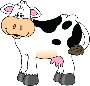 383x367 Cow Clip Art Free Cartoon Clipart Images 3