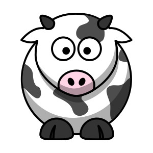 300x300 Cow Clip Art Pictures Cartoon Clipart Clipartcow Clipartix